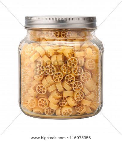 Mini Wheel Pasta In A Glass Jar