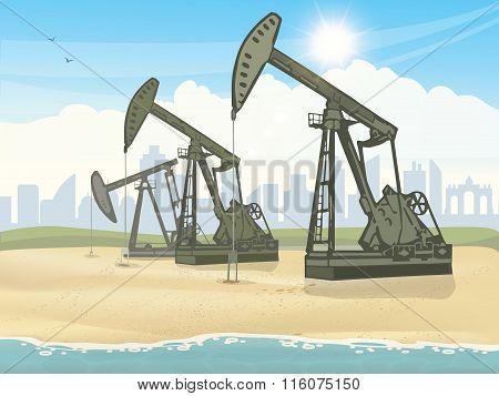 Oil derrick industrial machine