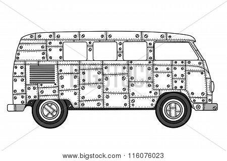 Van In Zentangle Style