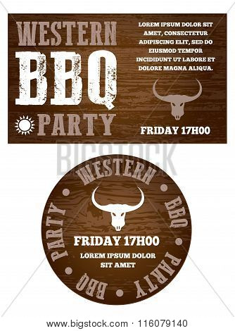 Western Bbq Party Invitation