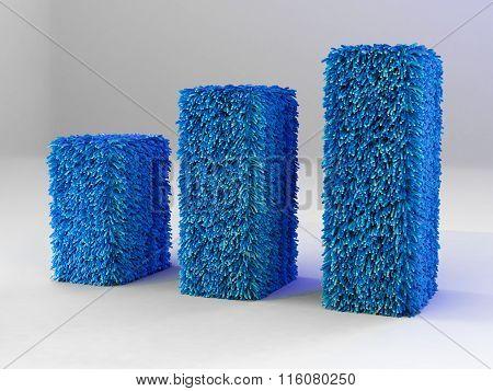 Business Graph Blue Carpet
