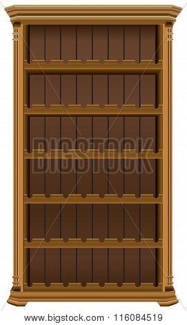 Wooden Cabinet For Wine Bottles