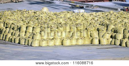 Stack Of Big Bag Contain