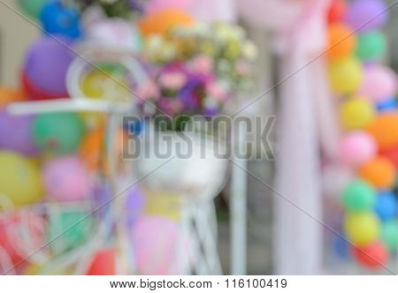 Abstract Blur Party Background