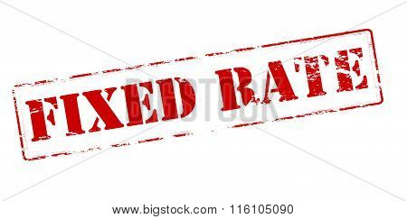 Rubber stamp with text fixed rate inside vector illustration