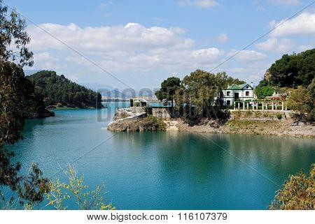 Guadalhorce lake near Ardales.