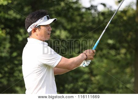 Ye Yang At The Golf French Open 2015