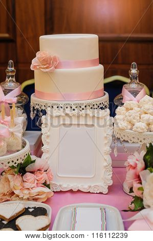 Cake With Frame For Your Text