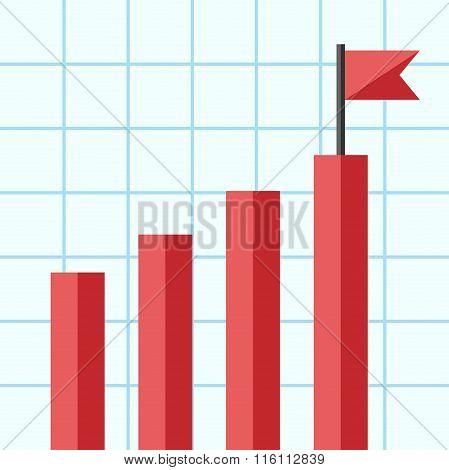 Bar Chart With Flag