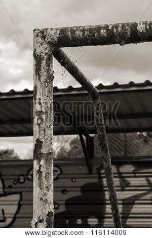 Rusty goalpost
