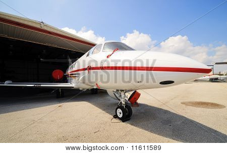 Corporate Jet in for maintenance
