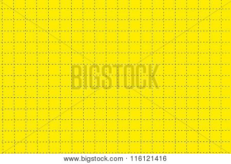 Yellow Plastic Board With Dotted Line Like As Graph Paper