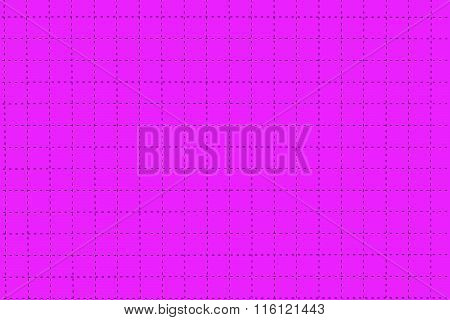 Pink Plastic Board With Dotted Line Like As Graph Paper