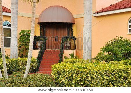 Landscaped home entrance