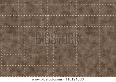 Brown Plastic Board With Dotted Line Like As Graph Paper