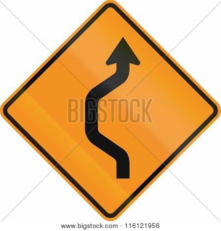United States Mutcd Road Sign - Road Deviation
