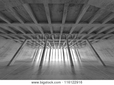 Abstract Concrete Architecture Background 3 D