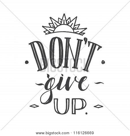 Motivation Hand Drawn Poster. Vector Card With Hand Drawn Unique Typography Design Element For Greet