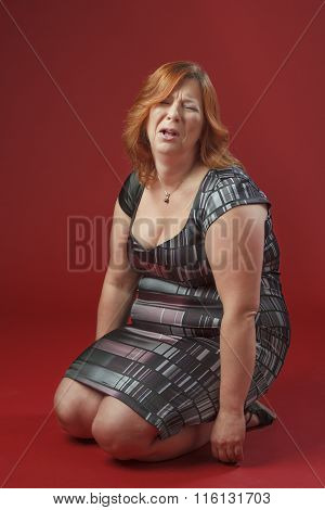 Woman Trowing A Tantrum
