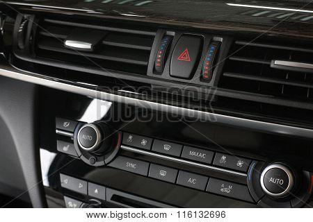 Car Interior. Climate Control