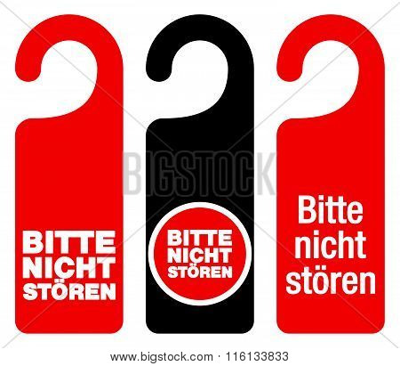 Bitte Nicht Storen Do Not Disturb Signs
