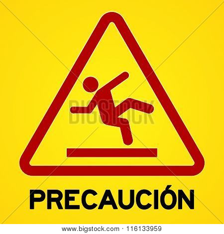 Yellow And Red Precaucion Symbol