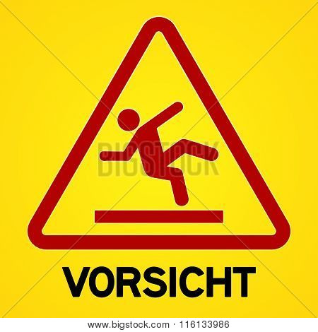 Yellow And Red Vorsicht Symbol