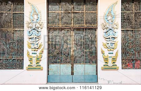 Door To Monastery In Myanmar