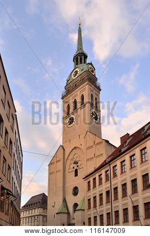 Munich, Germany. Church Of St. Peter