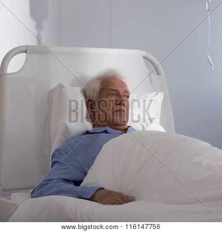 Elder Man In Hospital