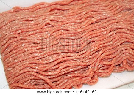 Uncooked Ground Beef and Pork Mix
