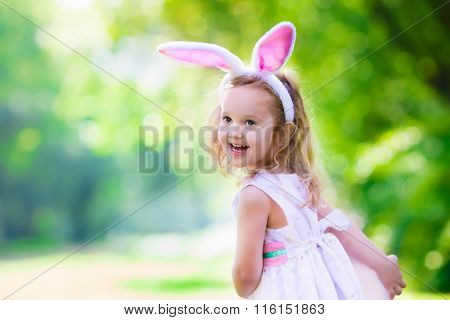 Little Girl With Easter Bunny Ears