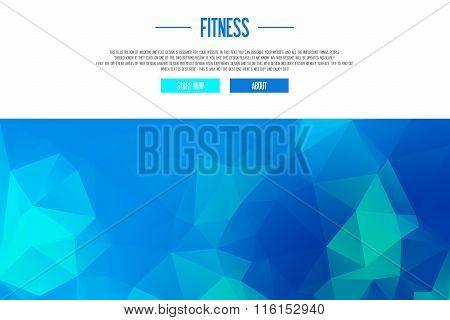 Illustration Of Modern Line Flat Design - Fitness Workout - Fresh Design - Frontpage, Header, Banner