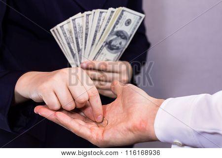 Poor begging the rich