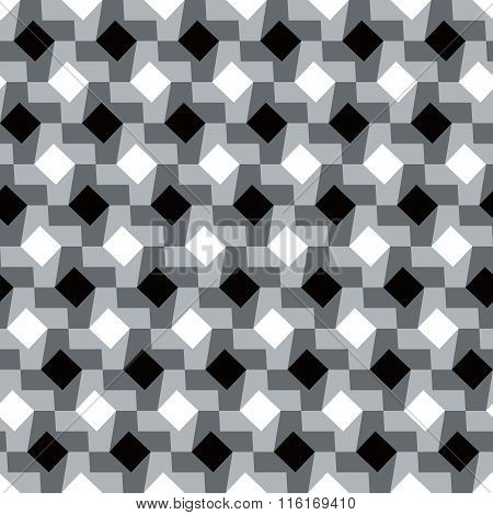 Houndstooth pattern variation in black,white and grey.