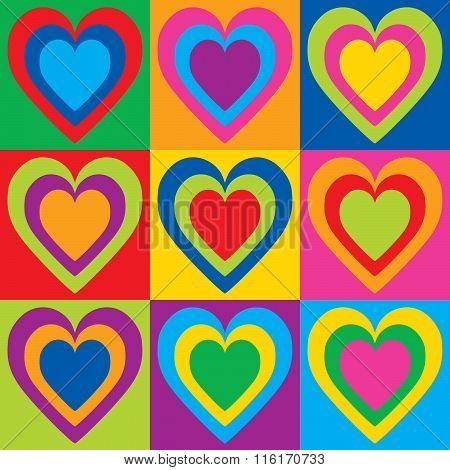Pop Art Hearts