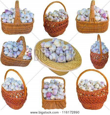 Basket With Garlic.