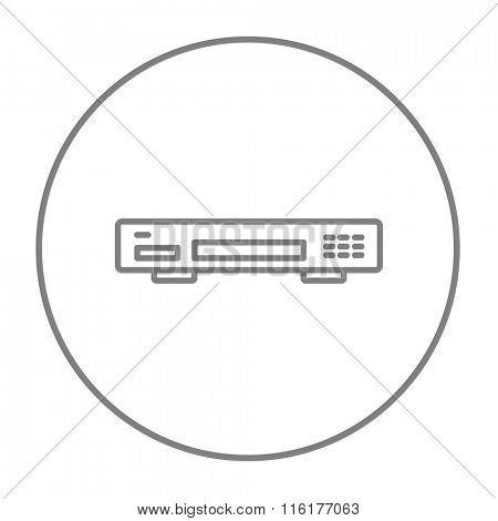 Video recorder line icon.