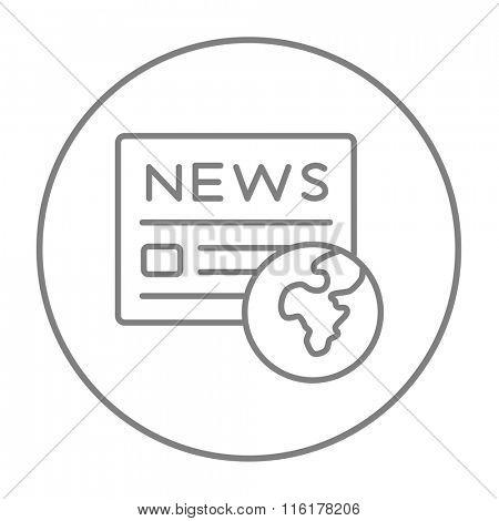 International newspaper line icon.