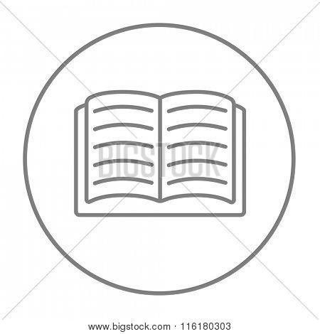 Open book line icon.