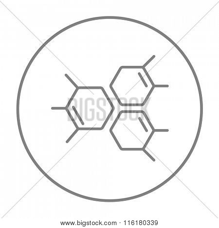 Chemical formula line icon.