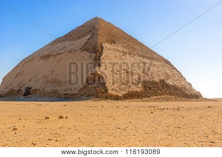 Sneferu's Bent Pyramid, Dahshur, Al Jizah, Egypt