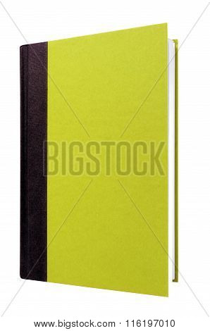 Light Green Hardcover Book Front Cover Upright Vertical Isolated On White
