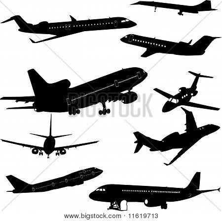Aeroplane Collection vector