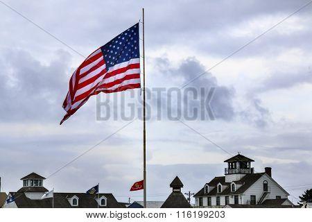 Maritime Museum Flag Westport Grays Harbor Washington State