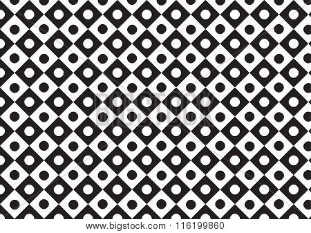 Vector Trapezoid With Circle Pattern  Black And White Color