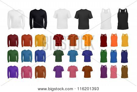 Clothes template big colorful collection