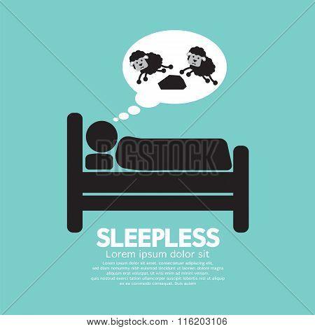 Sleepless Person Symbol.