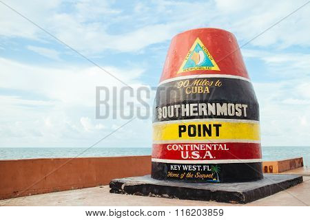 The southernmost point.