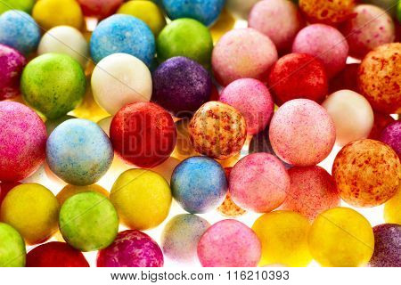 Colorful polysterene balls